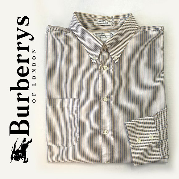 Burberry Other - BURBERRY'S White Stripped Button Down Shirt sz 34
